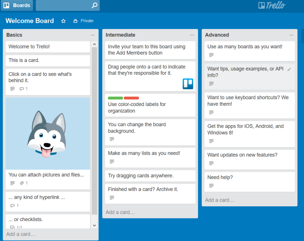 Trello Boards at Myislandworker
